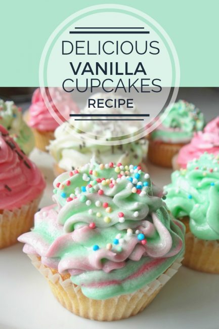 Delicious Vanilla Cupcakes with Buttercream
