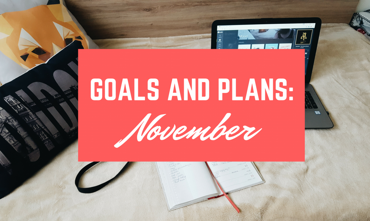 Monthly Goals and Plans | November