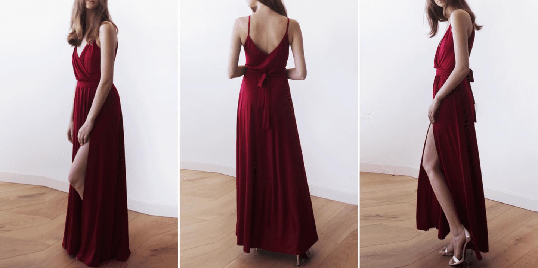 Evening Spaghetti Dress by Stywe
