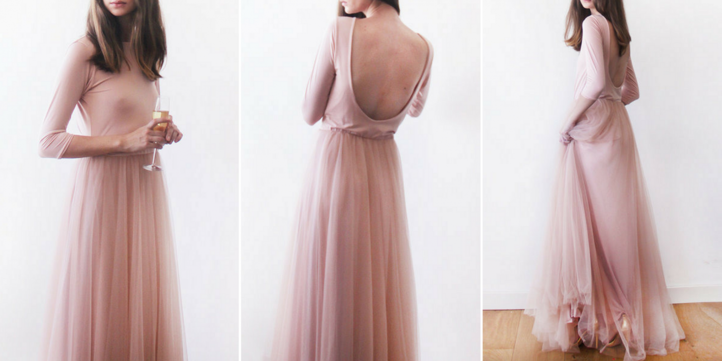 Pink Evening Maxi Dress by Stylewe