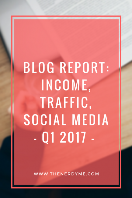 Blog Report of Q1 2017 | All about blog traffic, social media and income! Read more at www.thenerdyme.com