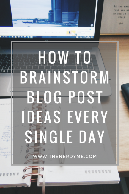 Here is how to brainstorm 20 blog post ideas in 5 minutes! www.thenerdyme.com