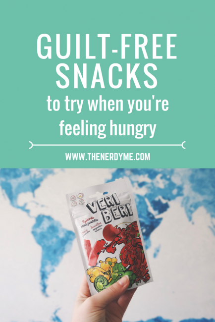 Guilt-free snacks to try when you're feeling hungry! www.thenerdyme.com