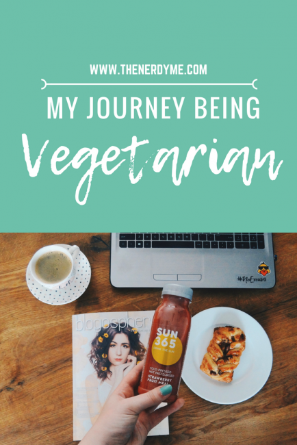 My Journey being vegetarian and vegan! Learn more at www.thenerdyme.com