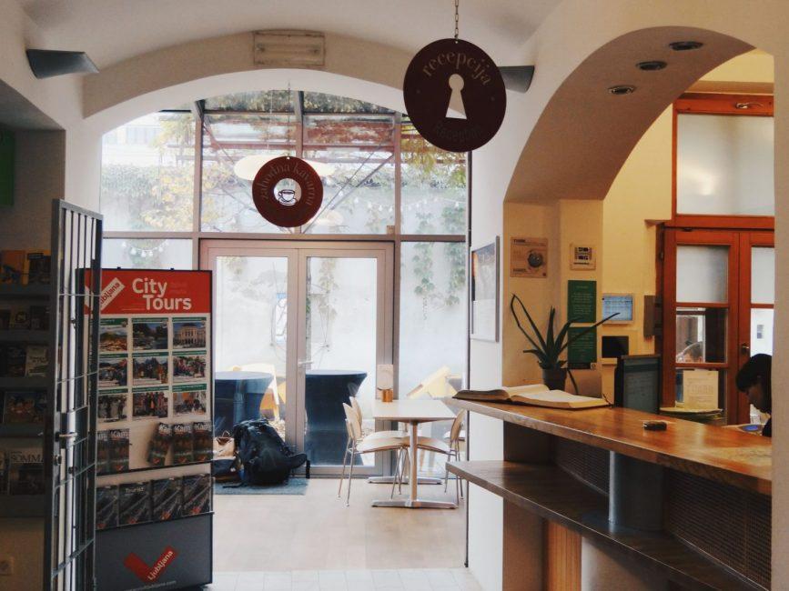 Inside Hostel Celica - registration