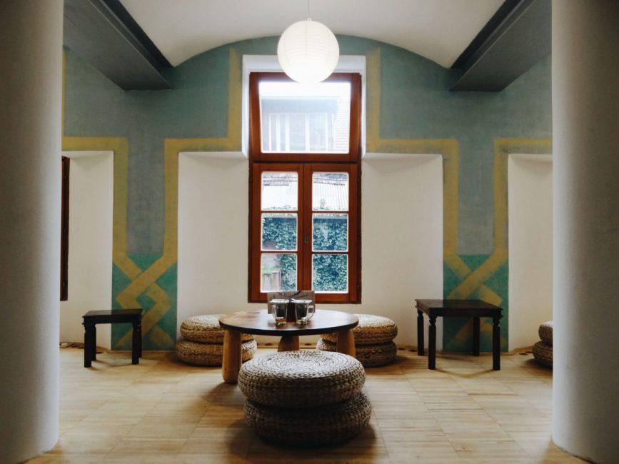 Oriental cafe in Hostel Celica