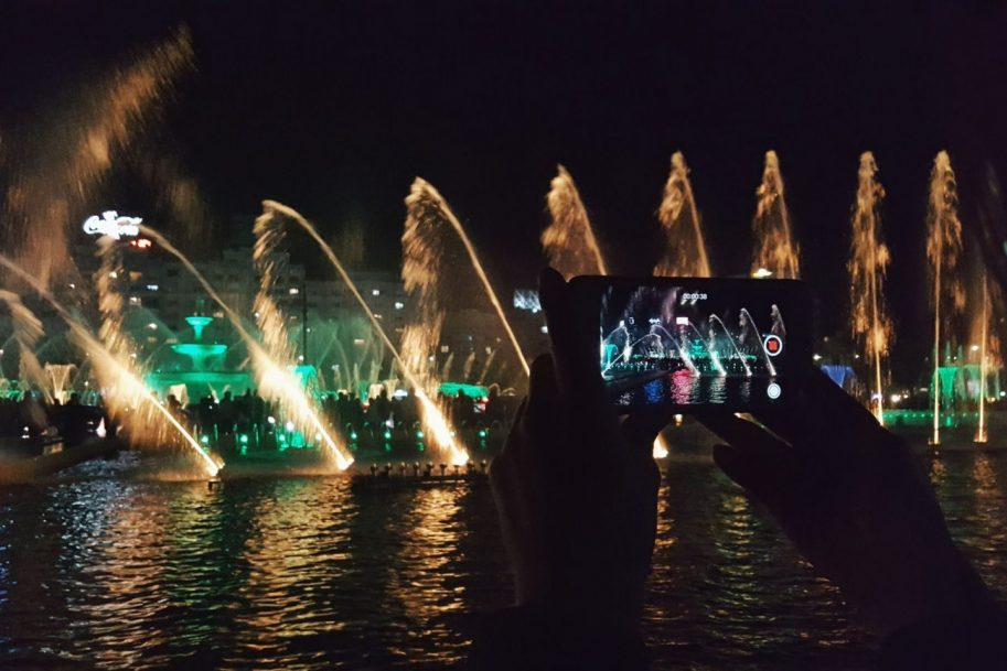 Fountains show in Bucharest