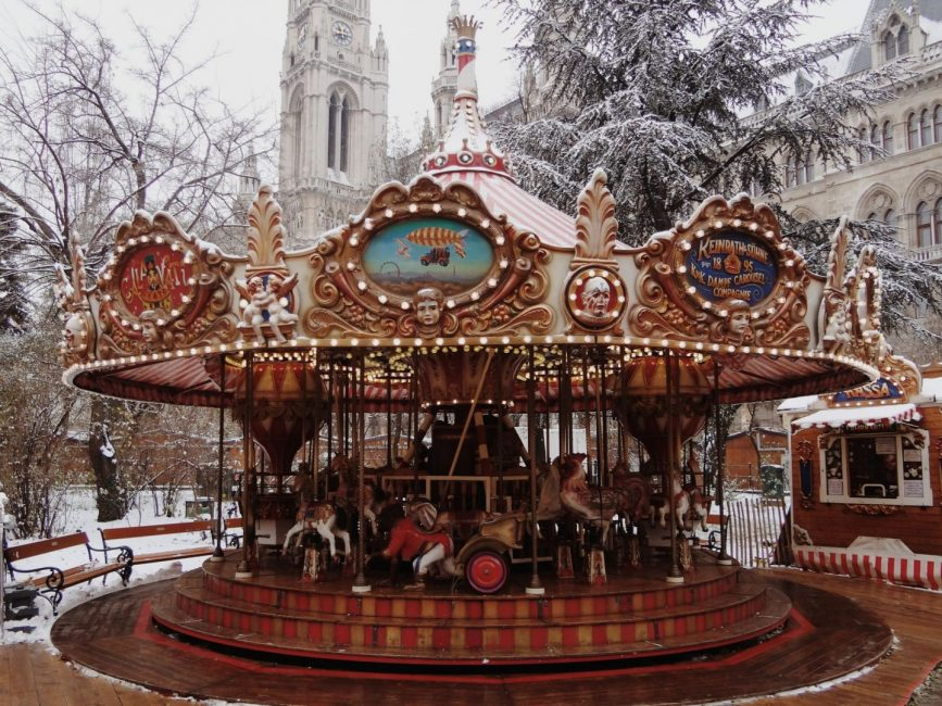 Carousel in winter