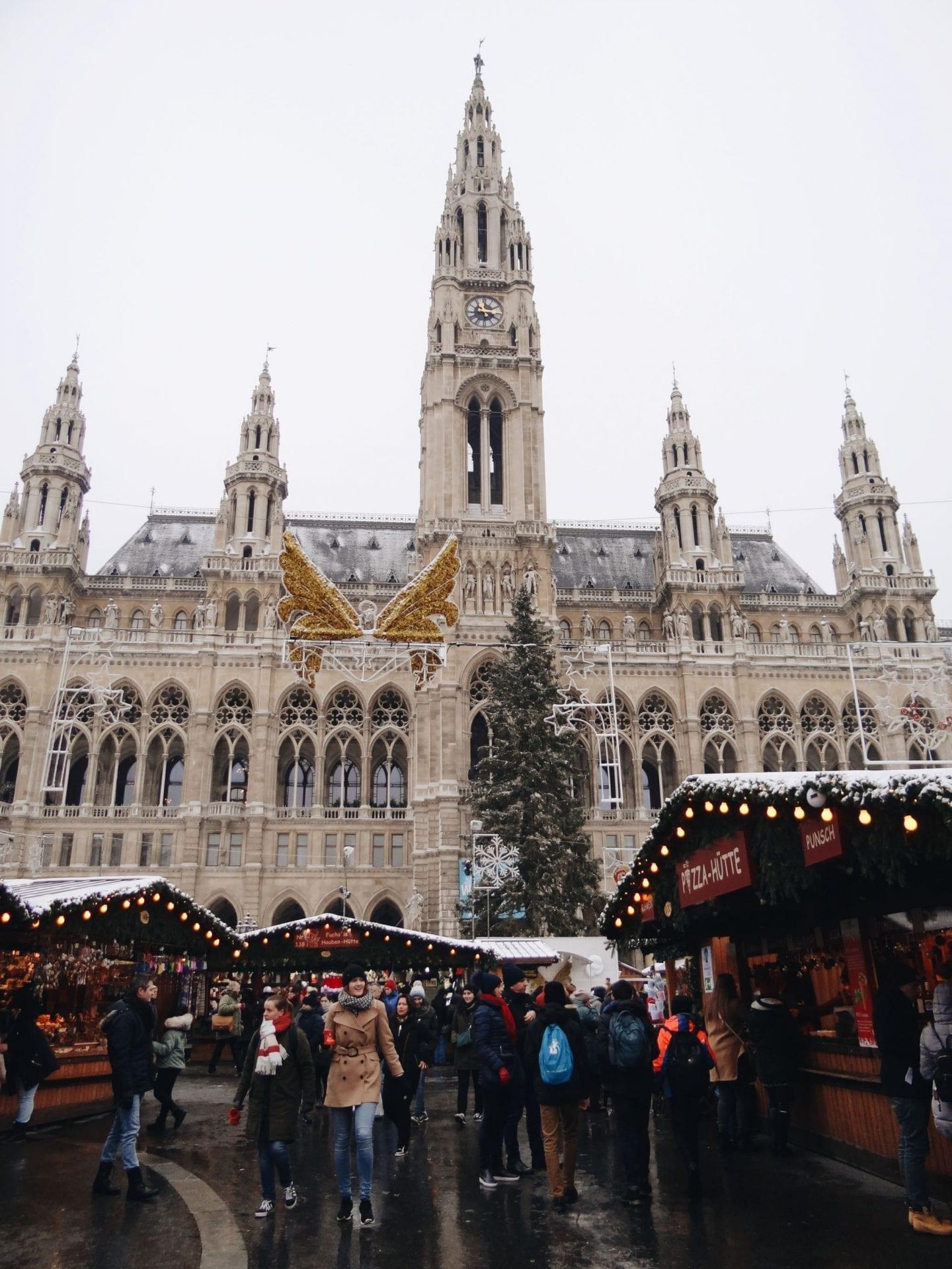 Christmas market in Rathaus, Vienna