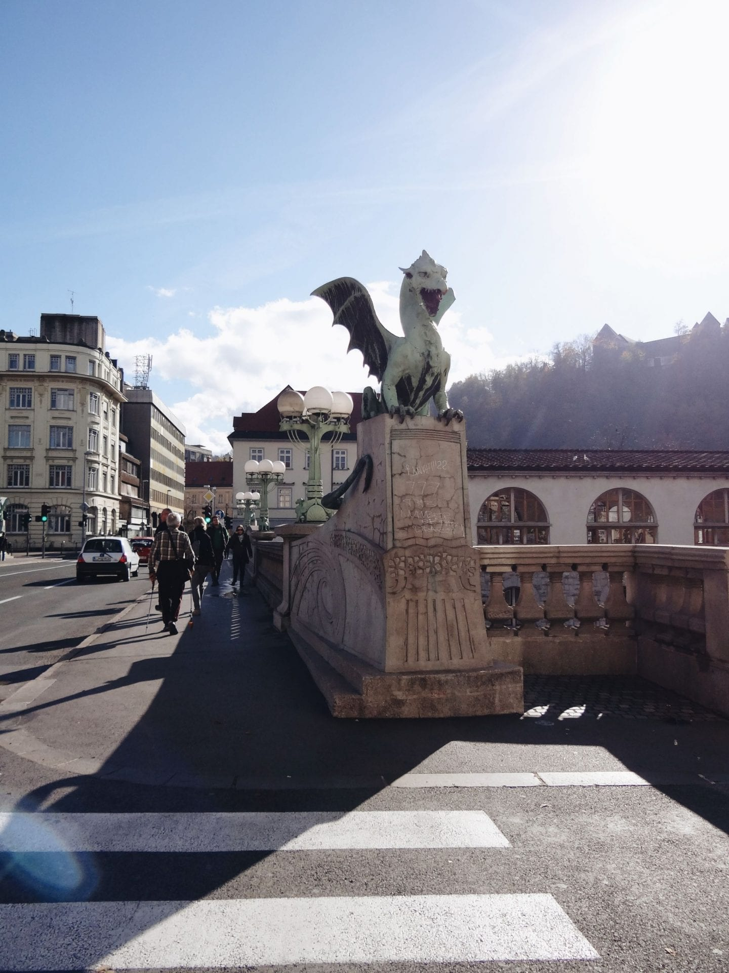 Dragon bridge in Ljubljana