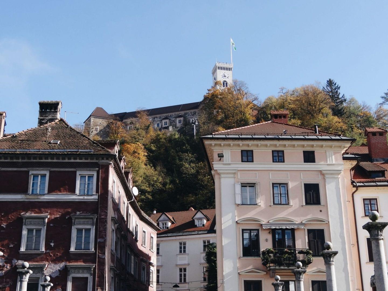 Ljubljana castle from the street