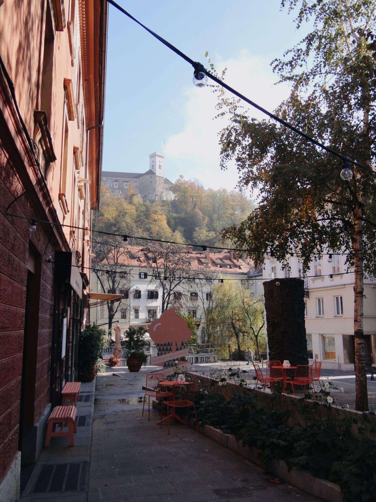 narrow streets of Ljubljana