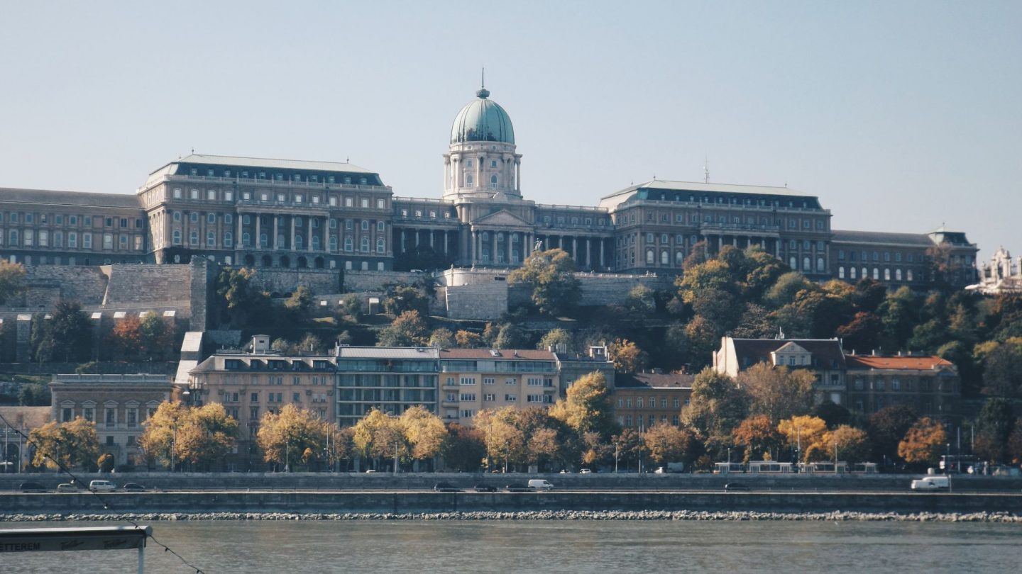 Buda castle on the hill