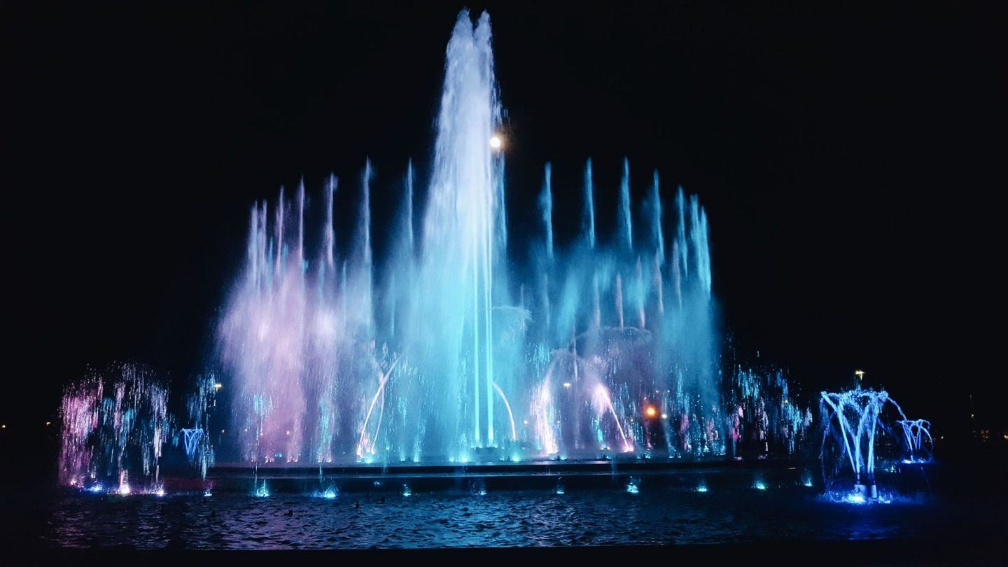 Fountain show in Budapest