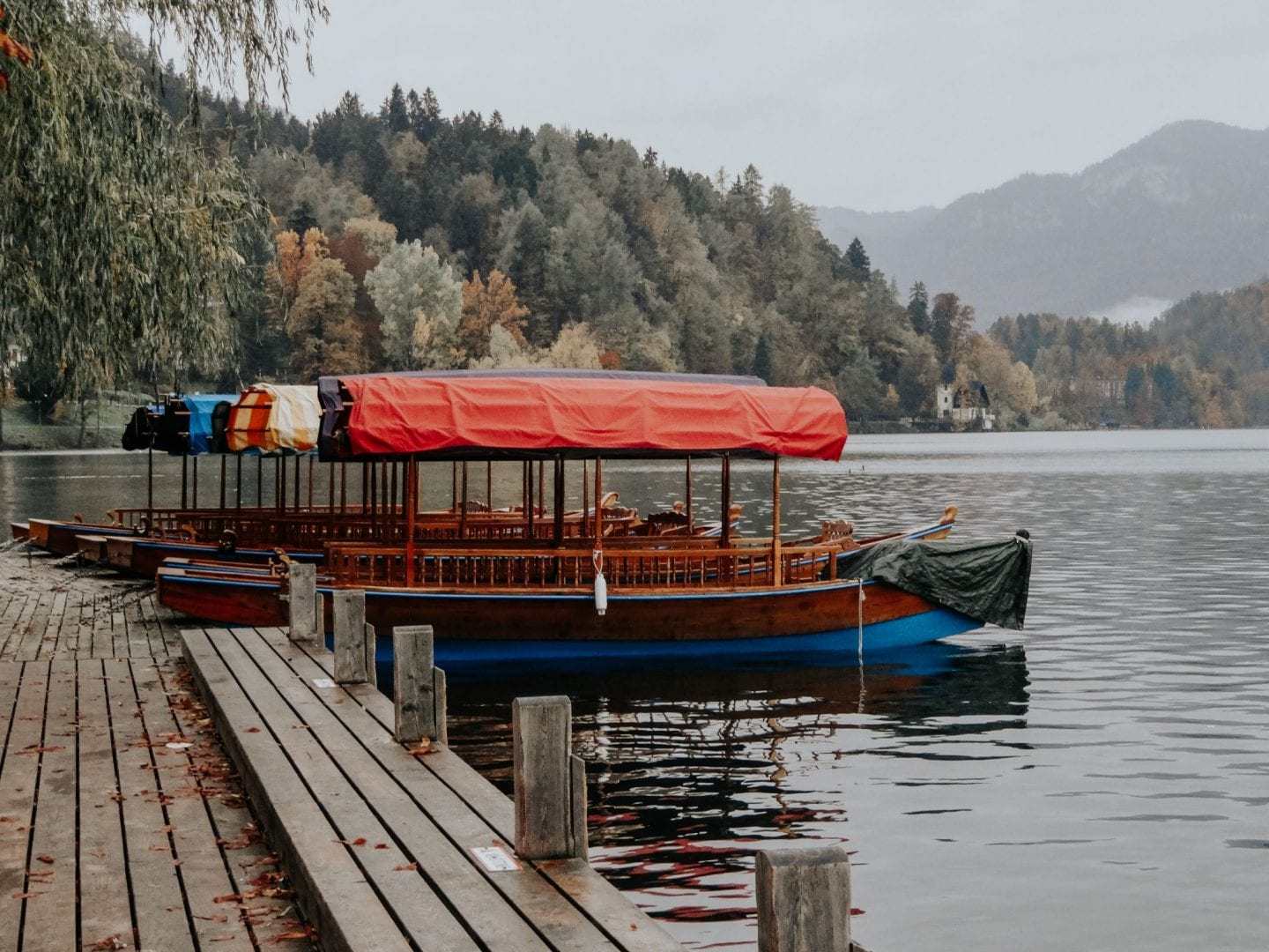 Boats of lake Bled, Slovenia