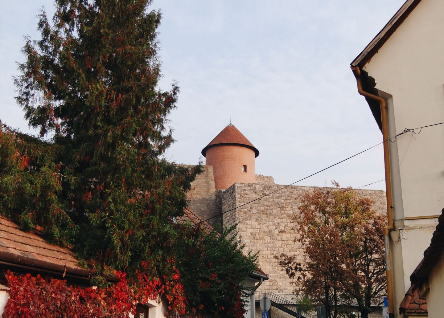 Eger castle from the street, Hungary