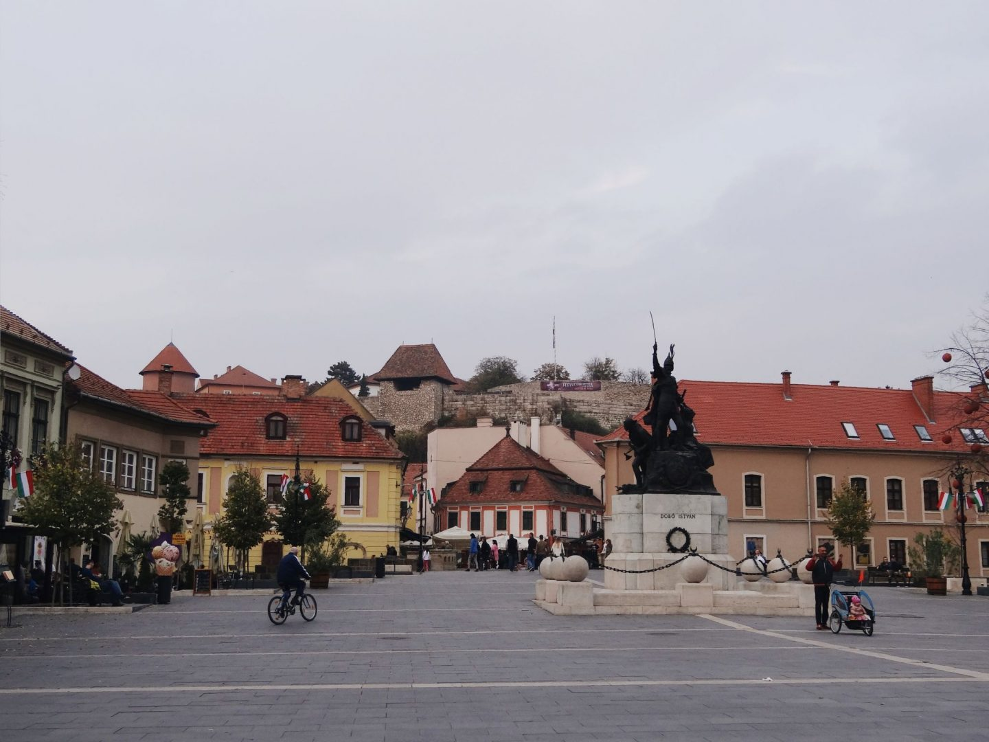 Dobo square in Eger, Hungary