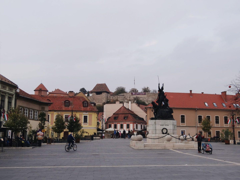 Dobo square in Eger, Hungary