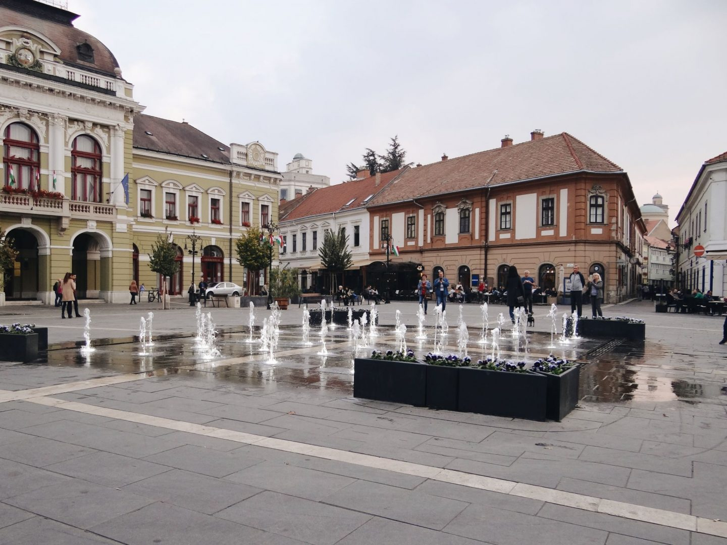 Fountain in Eger, Hungary