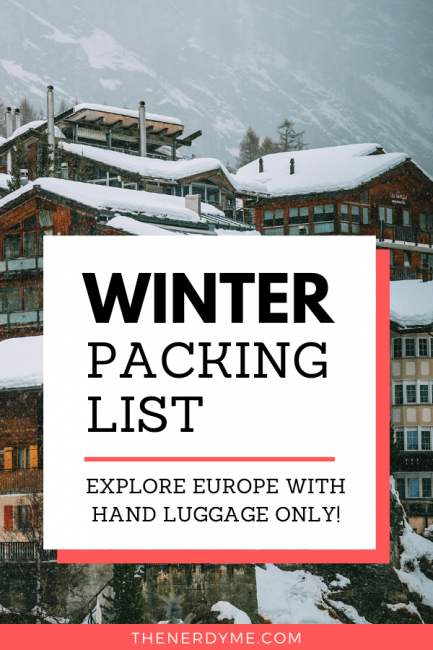 Winter packing list for Europe with carry on only!