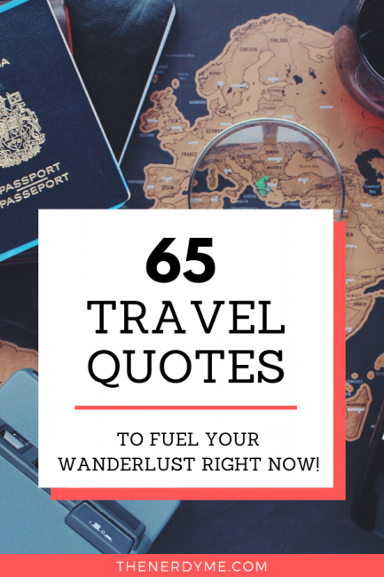 65 The most inspiring and famous travel quotes