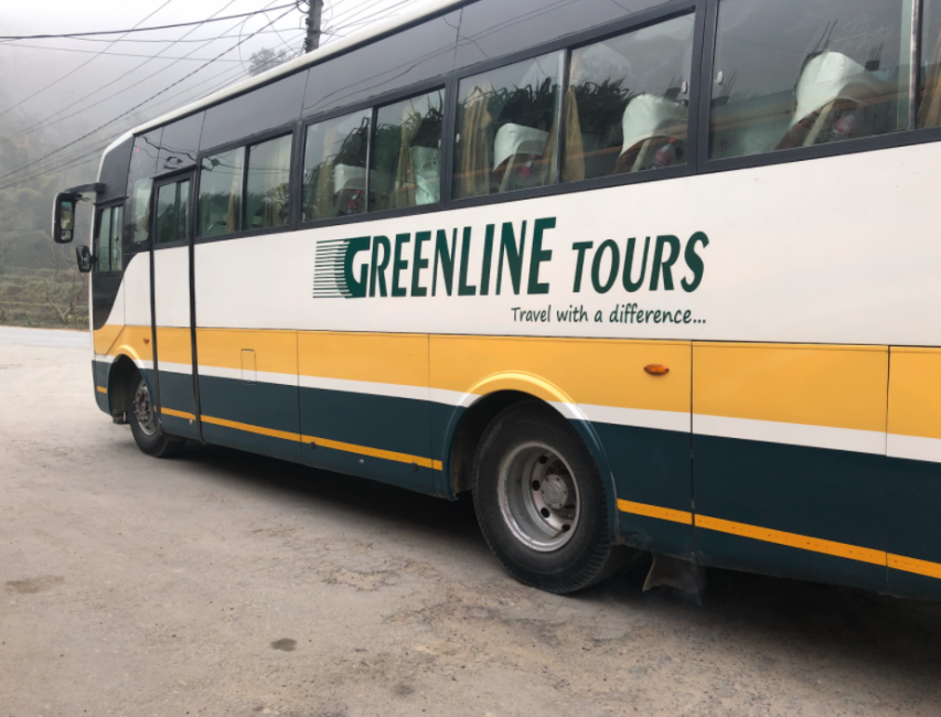 Greenline Tours bus in Nepal