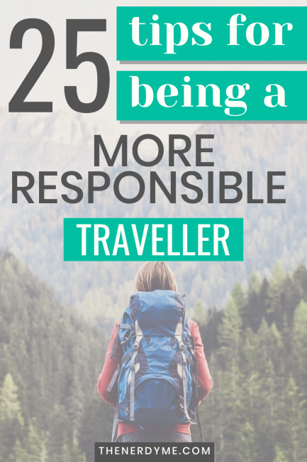25 Tips for being a more responsible traveler
