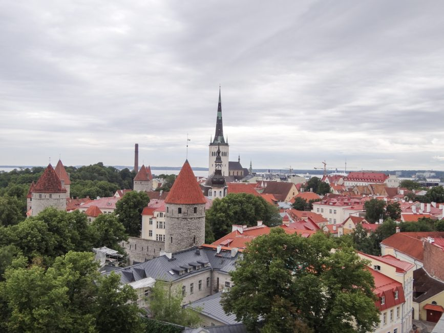 Tallinn panorama of old town